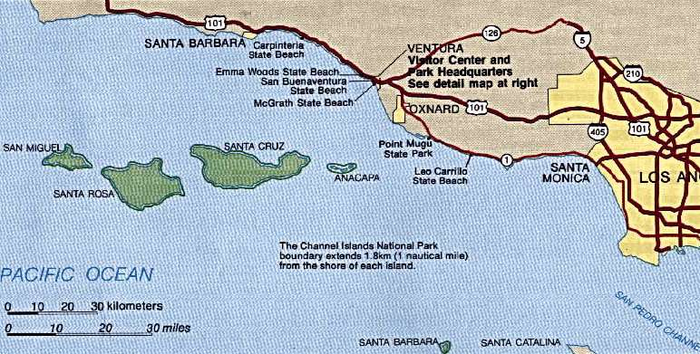 Channel Islands Np Map